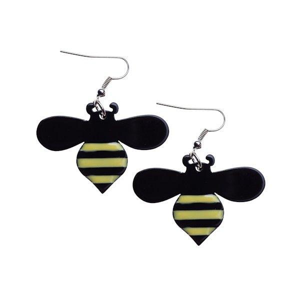 Erstwilder Sweet Honey Bee Earrings available from BarKATtheMeow.com