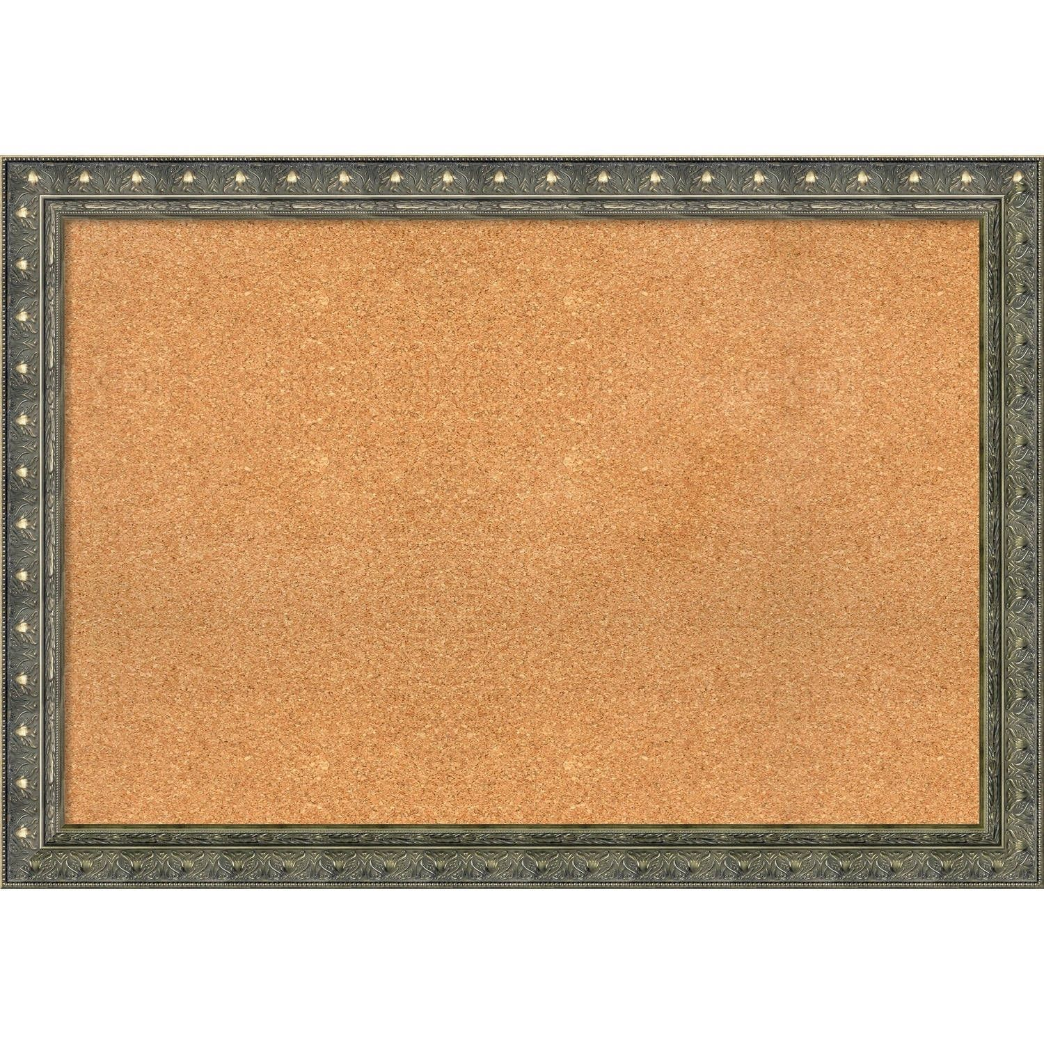 Amanti Art Framed Cork Board, Barcelona Champagne (Extra Large