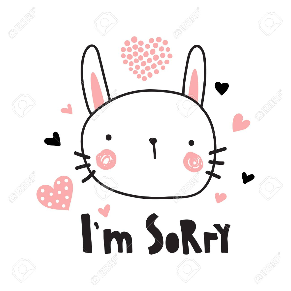A Vector Template Of A Greeting Card I M Sorry Text And Cute Within Sorry Card Template In 2020 Sorry Cards Card Template Im Sorry Cards