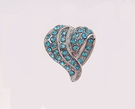 Grab a heart pendant with blue Swarovski inspired crystals including delivery for $11 from seriouslygold.com.