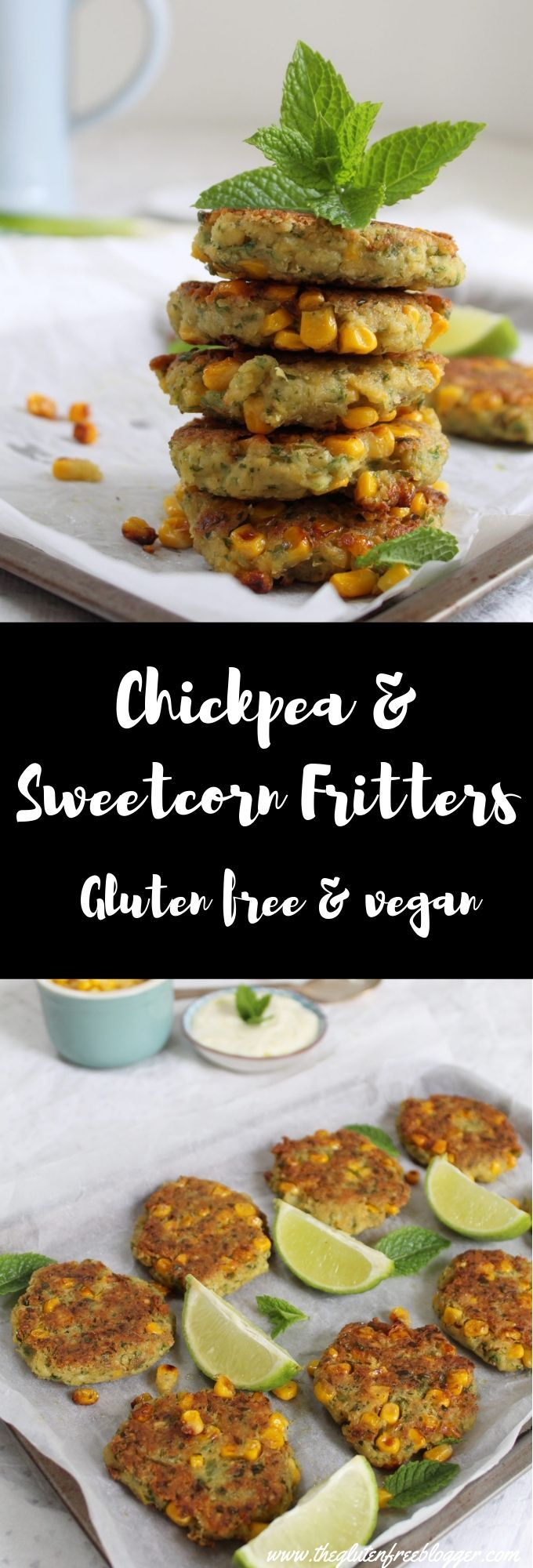 Chickpea and Sweetcorn Fritters recipe - The Gluten Free Blogger