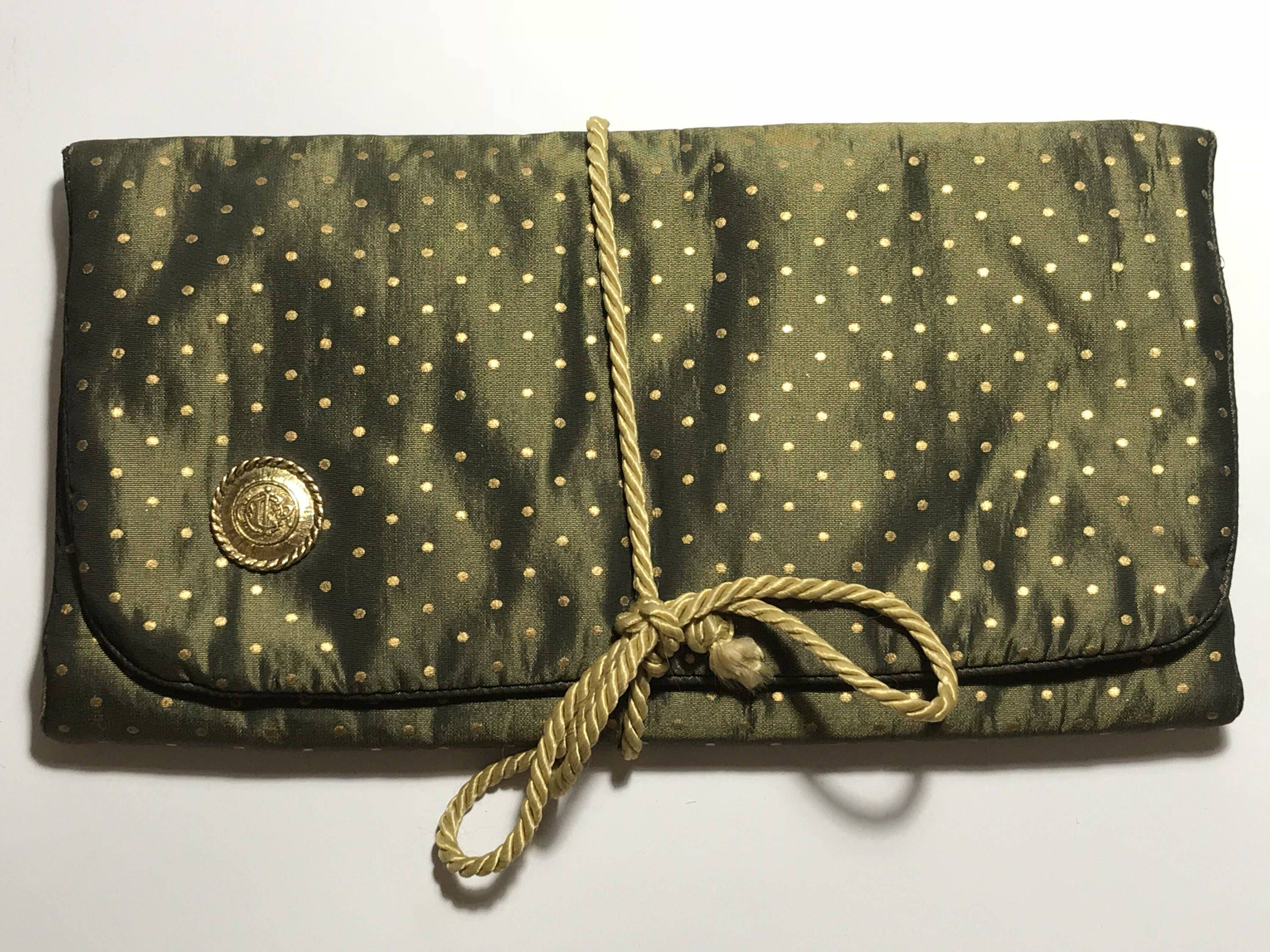 Vintage CHRISTIAN DIOR Travel Toiletry Bag / Trifold