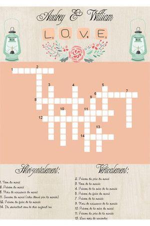 kit imprimable jeu mariage mots crois s evjf pam pinterest jeux mariage mots crois s et. Black Bedroom Furniture Sets. Home Design Ideas
