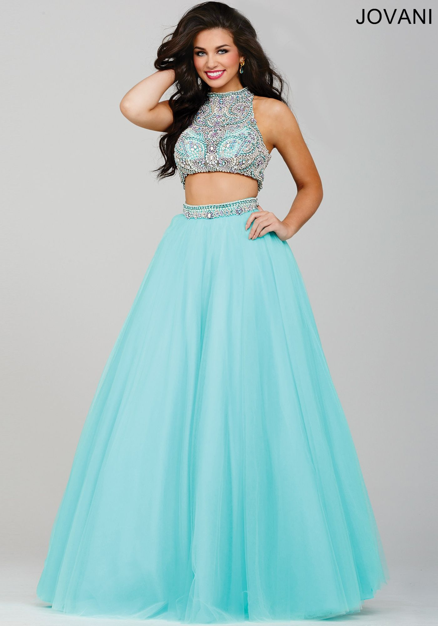 Aqua Two-Piece Ballgown Prom Dress 33535 | Cool stuff to buy ...