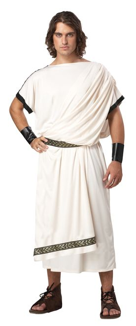 Men\u0027s Classic Toga Costume Toga costume, Greek toga and Toga party - mens homemade halloween costume ideas