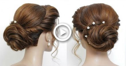 New Low Bun Hairstyle For Girls. Party Updo. Hair Tutorial -   13 hairstyles Party tutorial ideas