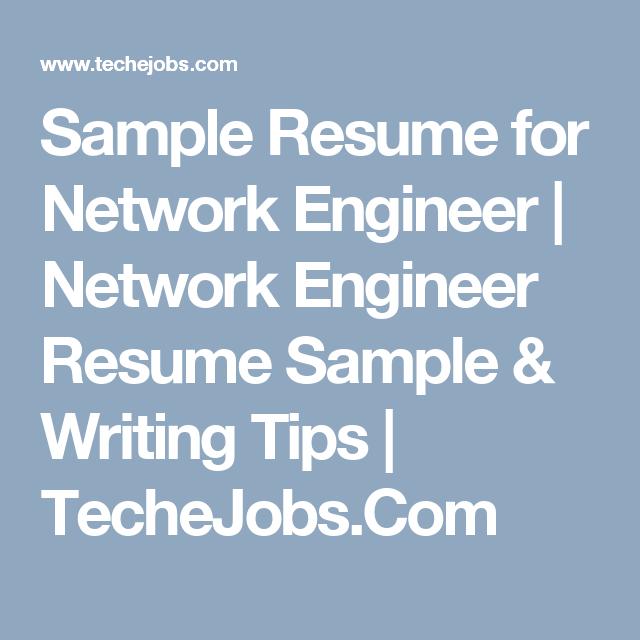 Sample Resume For Network Engineer  Network Engineer Resume
