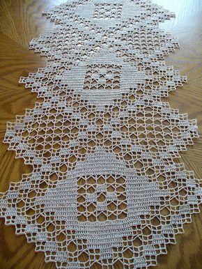 handmade natural crochet table runner major triad dantel b l m pinterest h keln. Black Bedroom Furniture Sets. Home Design Ideas