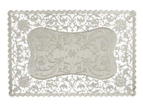 Royal French Lace Rectangular Paper Placemats 9 75 X 14 5 Inches Pack Of 16