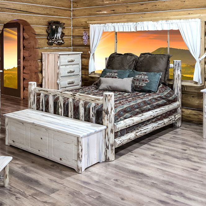 Love This Painted Log Bed Home Decor In 2019 Log Bed