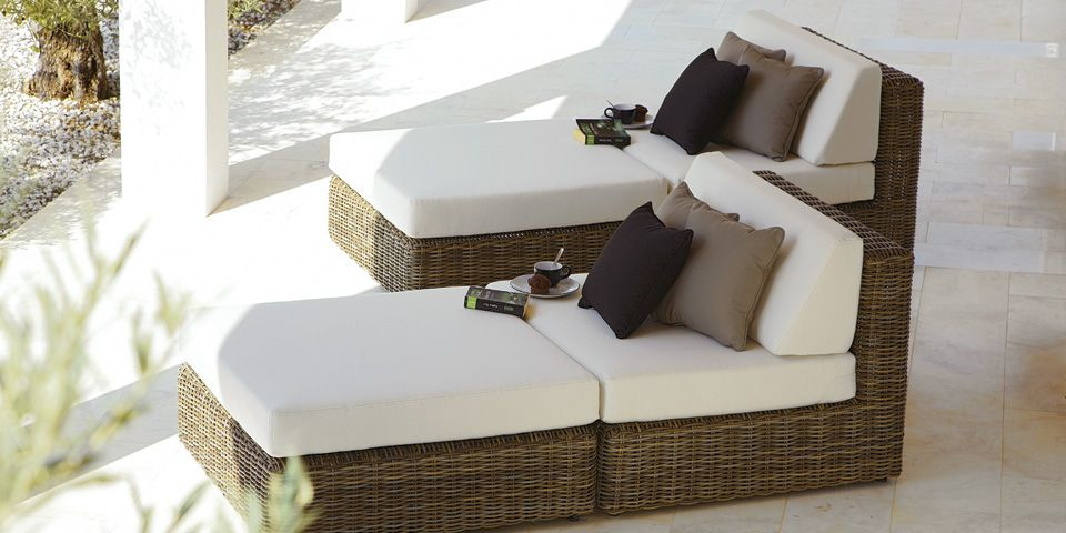 Perfect Rattan Sun Lounger Havana From Gloster Patio Furniture Pillows Modern Patio Furniture Outdoor Furniture Collections