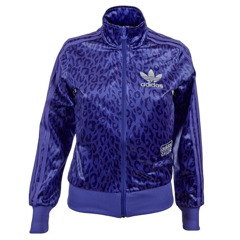 adidas Originals Chile 62 Womens Tracksuit Top / Jacket UK 8 to 20 Purple