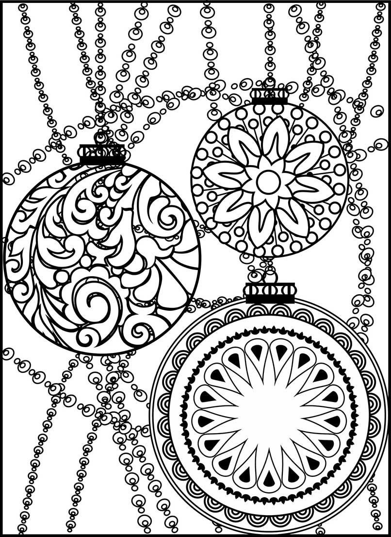 10++ Christmas ornament coloring pages for adults ideas