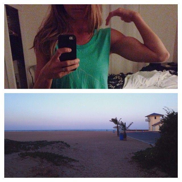 """Chilly morning #liss run in the neighborhood ☀️ #beachlife #silverstrand #beachfitness #beachrun #bbg #kaylaitsines"