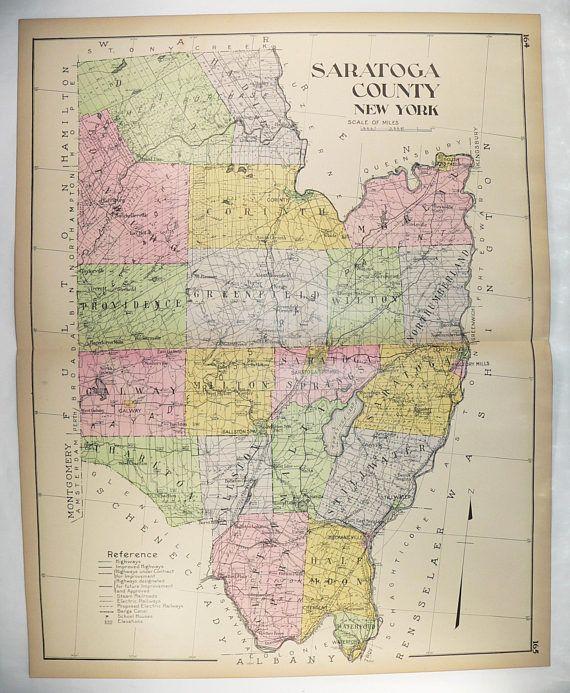 Big 1912 Saratoga County NY Map, New York County 1912 Large ... Saratoga On Us Map on albany new york map, sarasota ny map, sarasota wyoming map, cody wyoming map, saratoga on a map of america, saratoga fl, cold springs new york map, saratoga on the map, saratoga county ny, albany county town map,