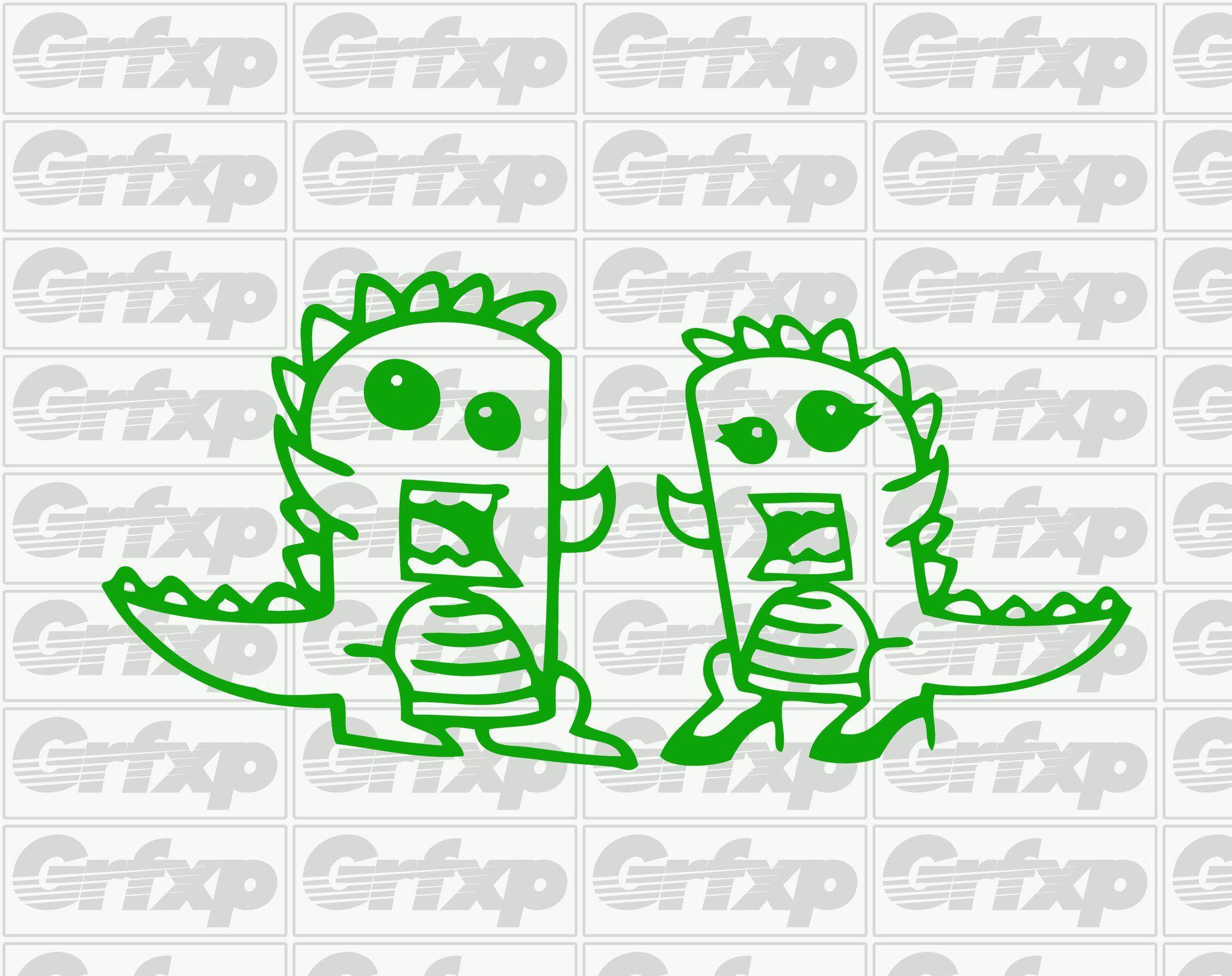 Godzilla Couple Sticker | Godzilla and Products for Couple Sticker Line  156eri