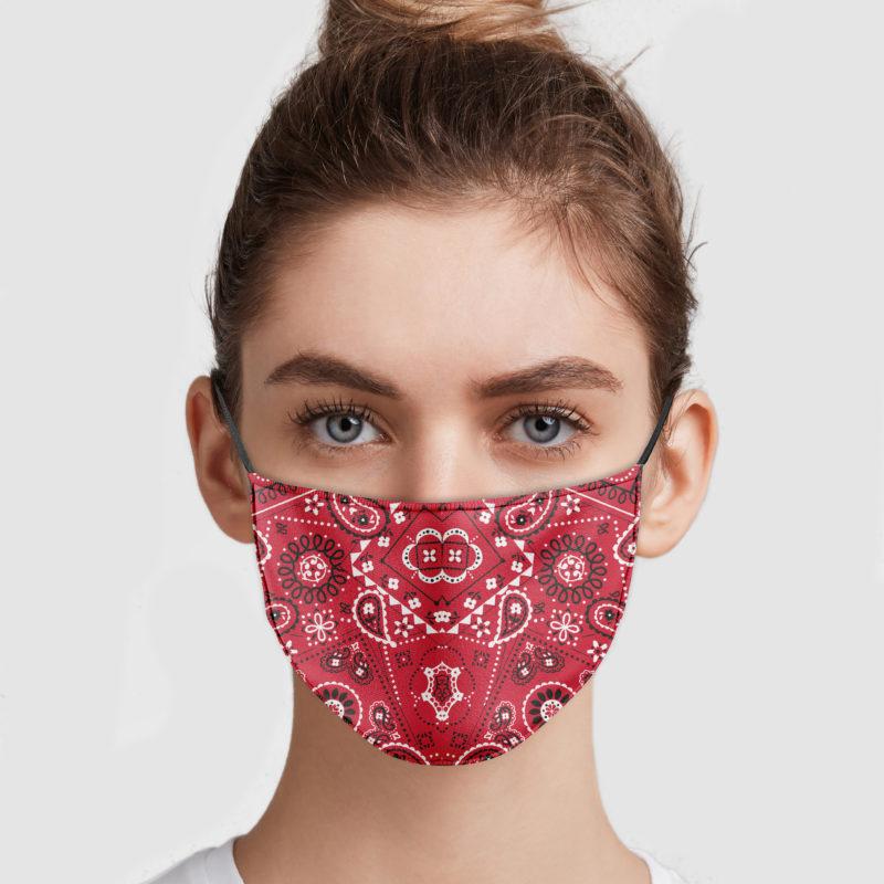 The Red Bandana Face Mask Sunfoxshirt Com Red Bandana Fashion Face Mask Face Mask