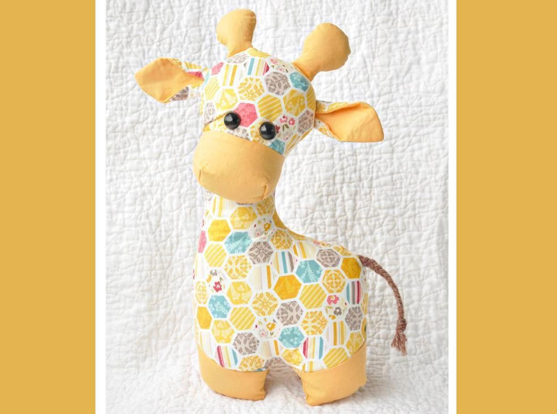 Gerald the Giraffe Sewing Pattern | Sewing patterns, Sew toys and ...