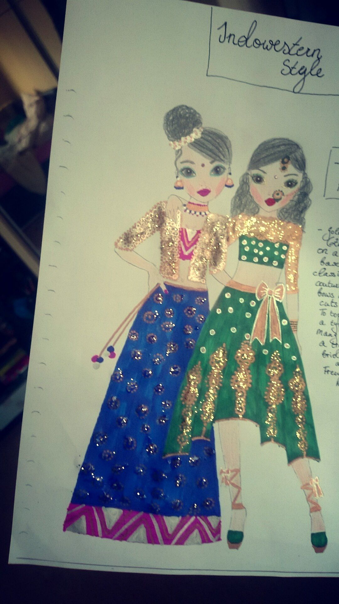indian fashion illustration Fashion illustration