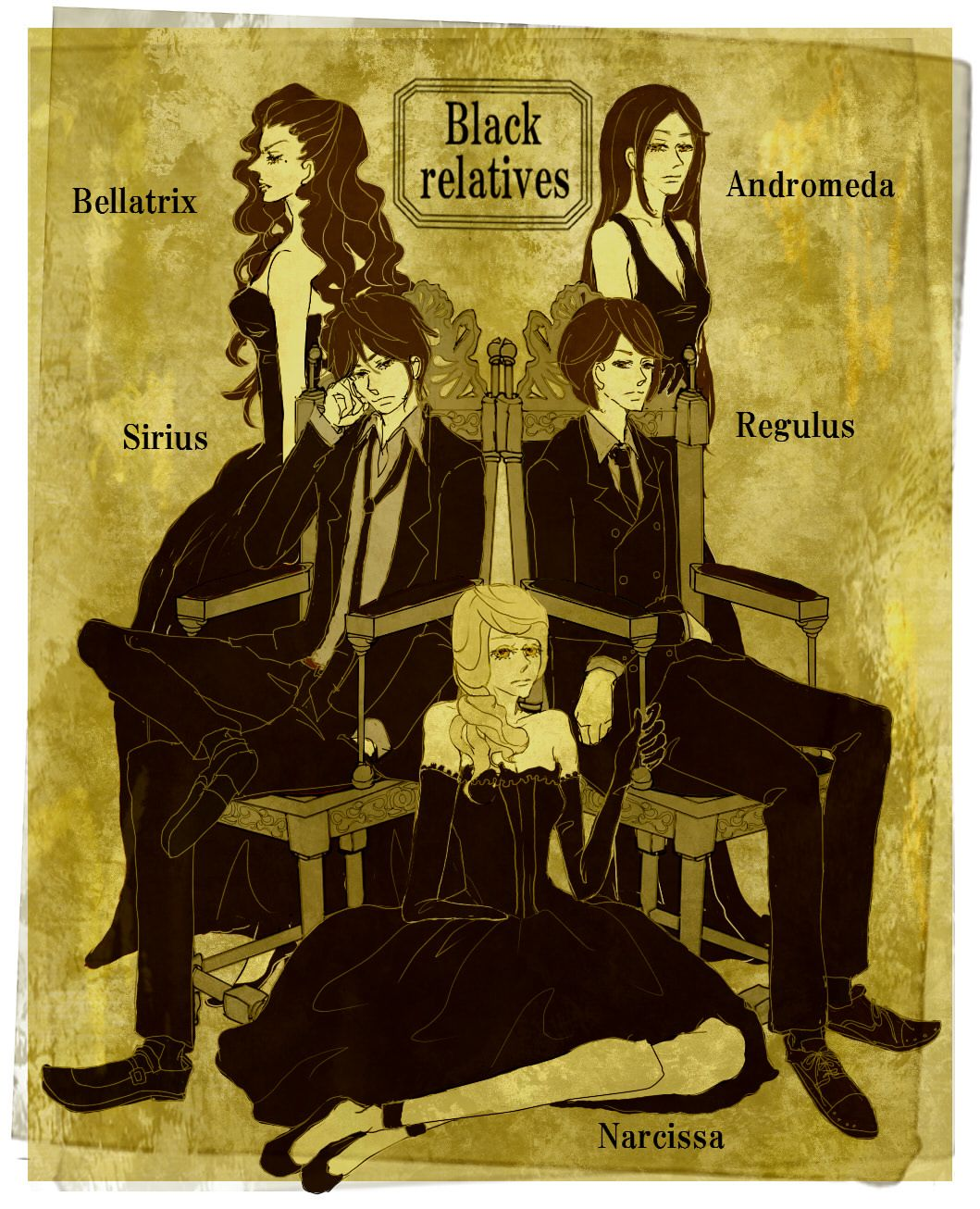 The Black Family Marauder S Era The Black Family Interests Me For Some Reason I Don T Know Harry Potter Universal Harry Potter Anime Harry Potter Obsession