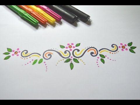 Como desenhar Arabesco Simples passo a passo