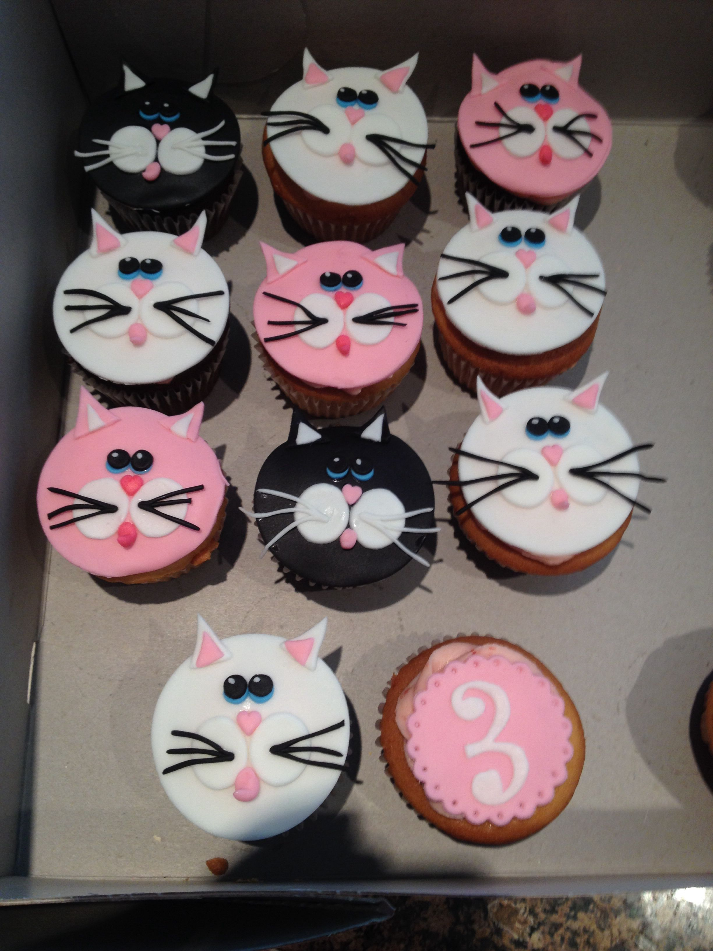 Kitten Cupcakes Cat Cupcakes Puppy Cake Cat Birthday Party