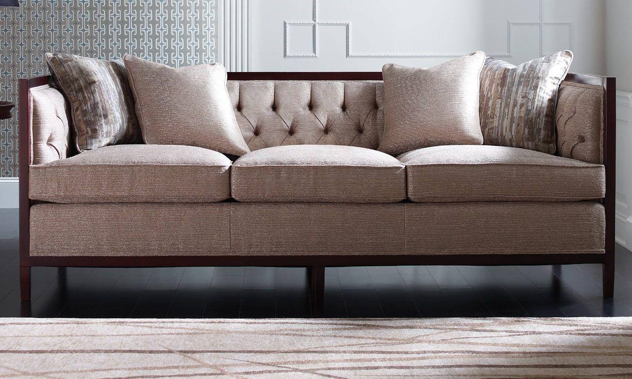 Stickley Newbury Sofa. Tufted Back, Modern Sofa