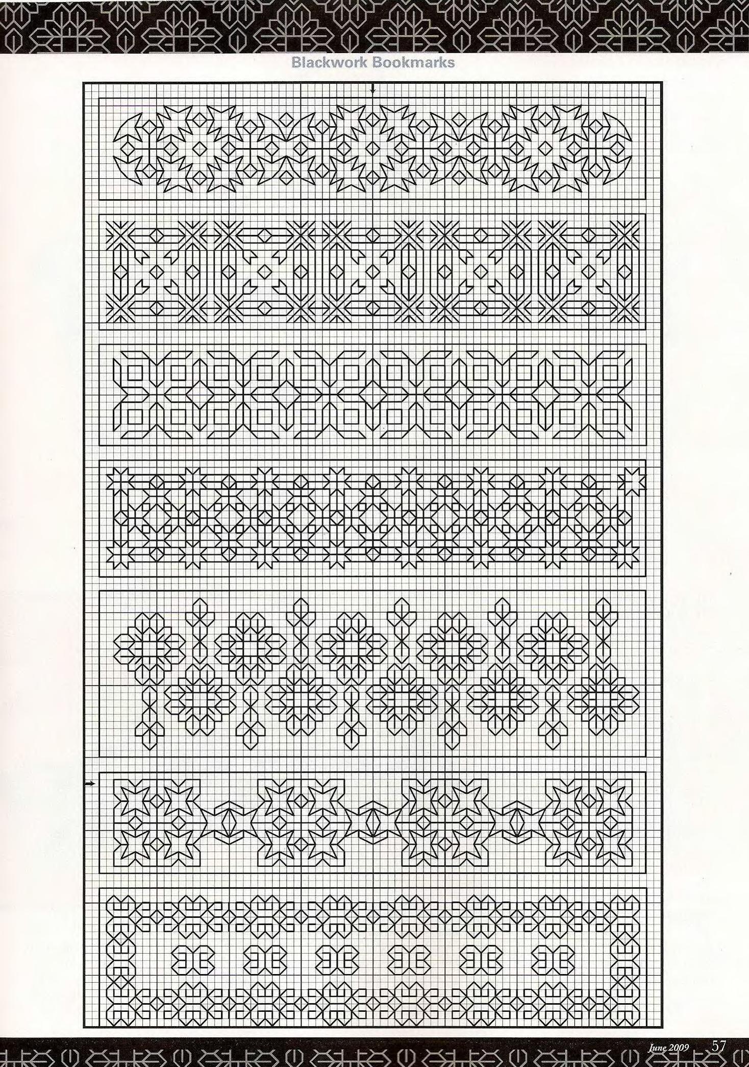 blackwork #patterns | Blackwork patterns | Bordado, Punto, Dibujos ...