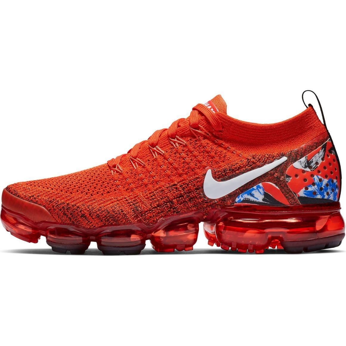 """Nike VaporMax Flyknit """"Team Orange/Red"""" Women's Shoe in"""