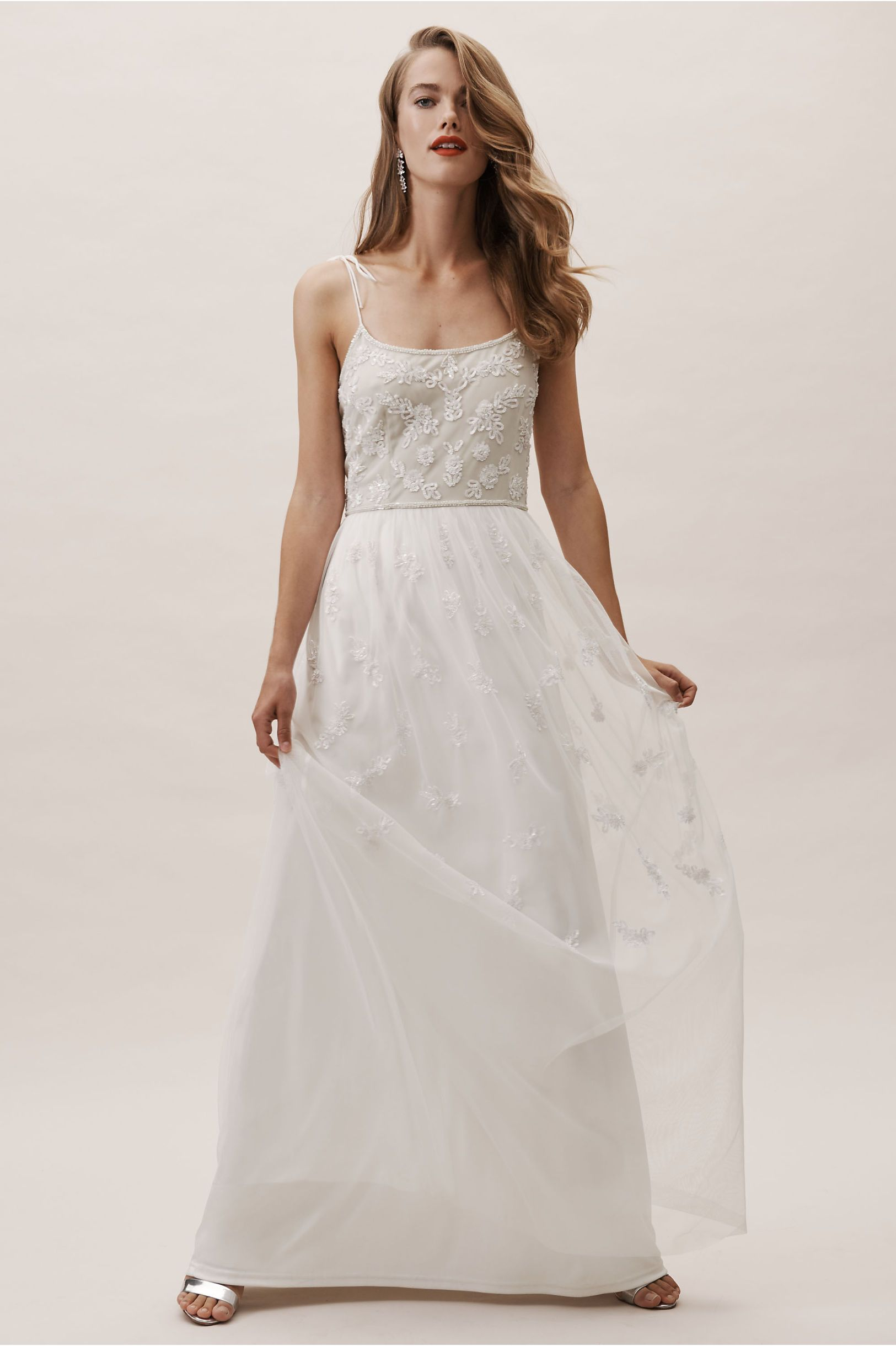 610661cbdd82 BHLDN's Adrianna Papell Marshall Dress in Ivory/nude | Products ...