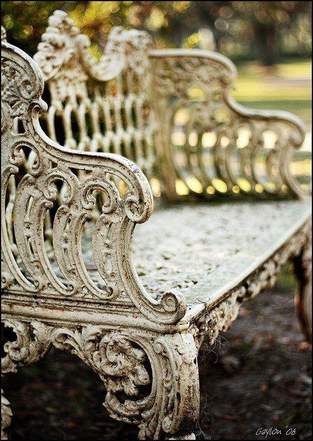 love, love old ornate iron pieces.....