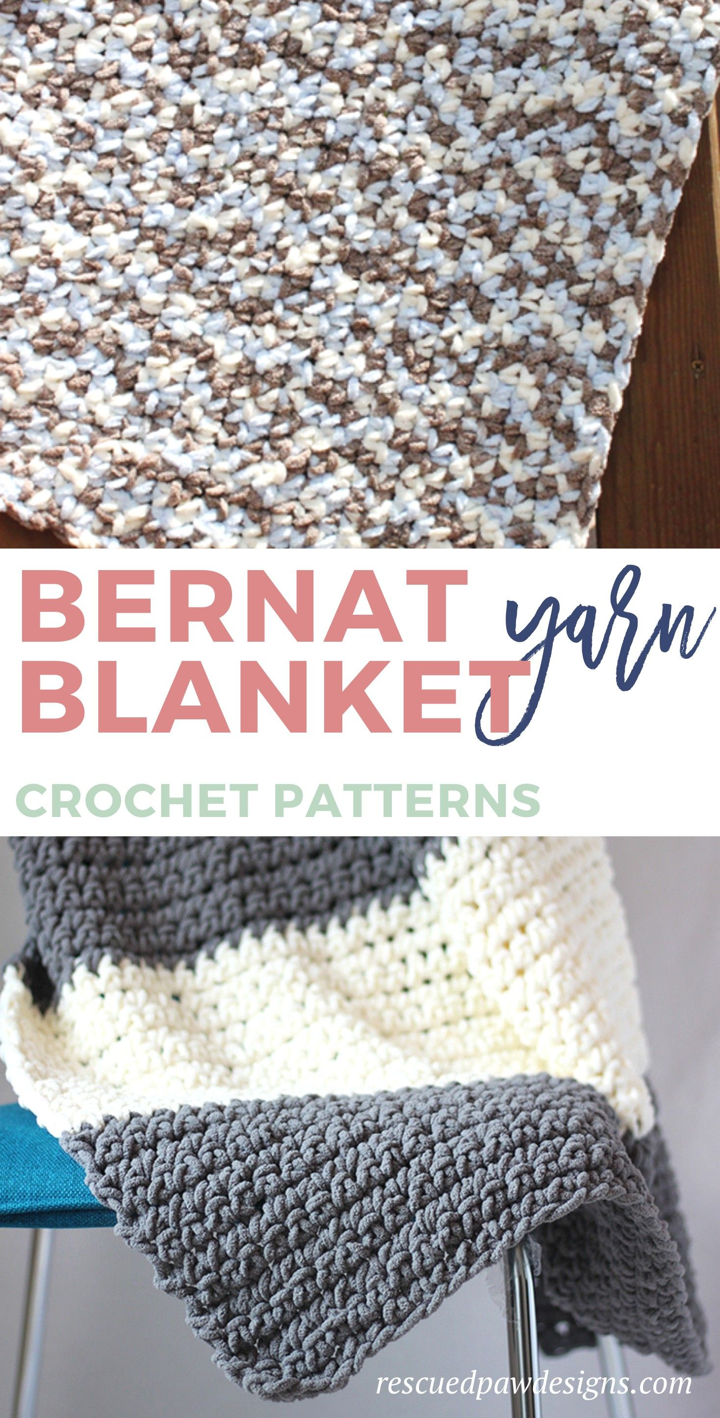 Bernat Blanket Yarn Crochet Patterns - EasyCrochet.com