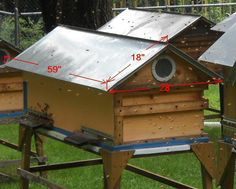 Modified European Long Hive - Romanov hives.