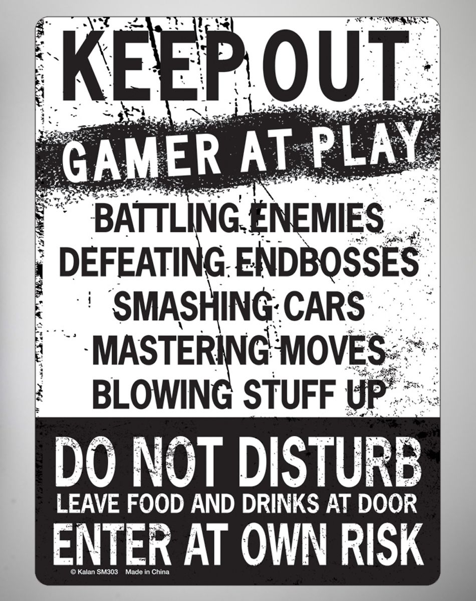 Party points to ME! I just found the Keep Out Gamer at