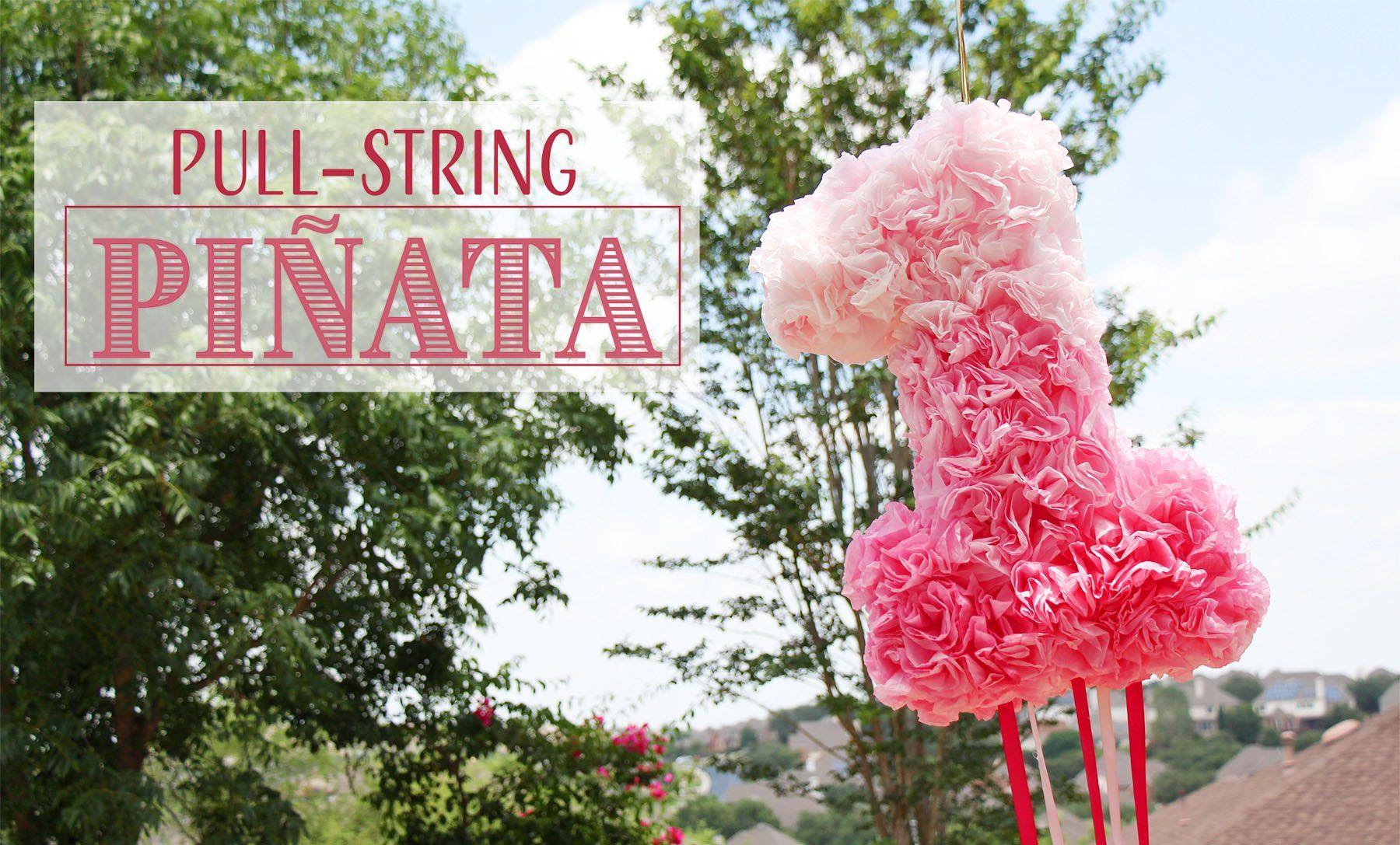 DIY PullString Piñata  Coffee Filters  CumpleañosBirthdays