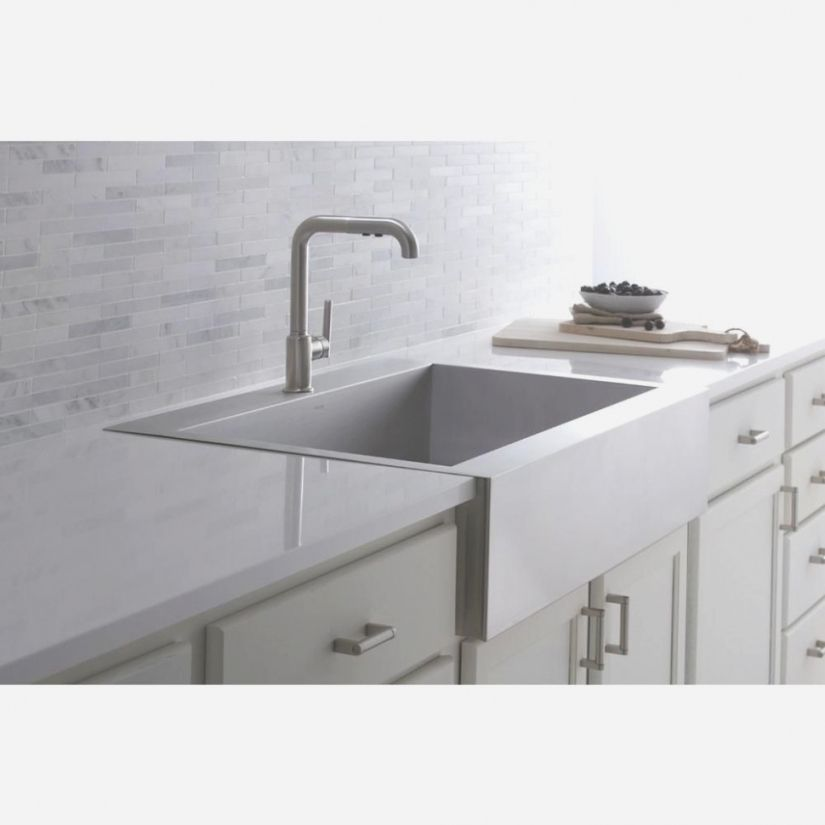 Kohler Vault Farmhouse Apron Front Stainless Steel 42 In 42 Hole Inside Top Mount Apron Front Kitchen Sink
