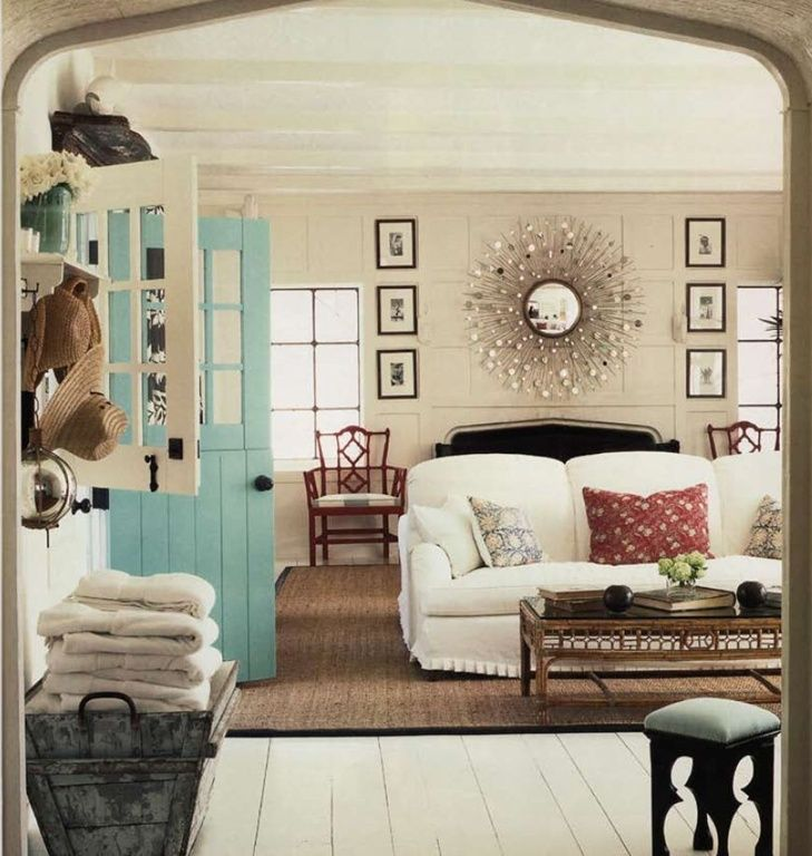 Neutrals + turquoise, nice atmosphere