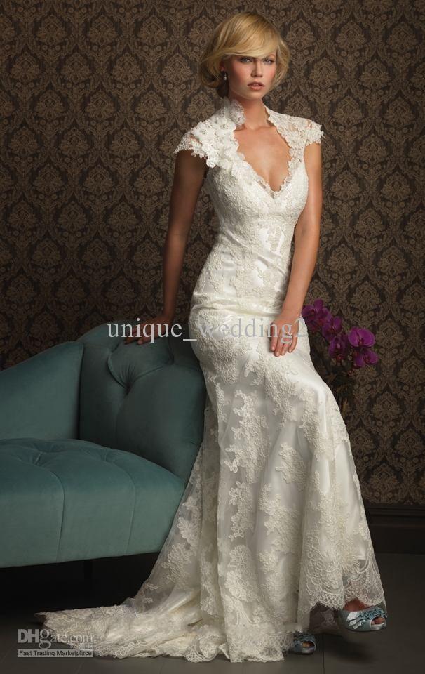 21 Gorgeous Lace Wedding Dresses Keyhole Back Wedding Dress