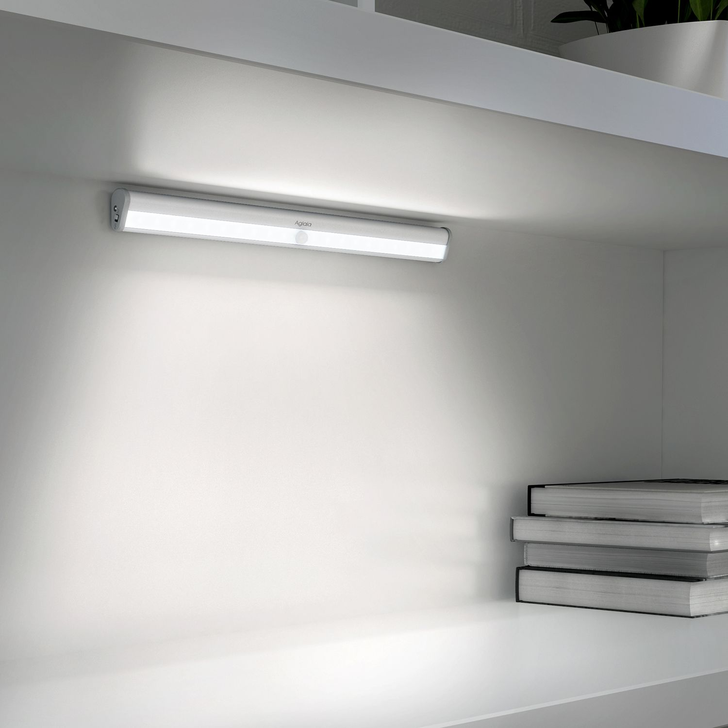 Aglaia Led Cabinet Light Usb Rechargeable Motion Sensor Light With 10 Leds Wireless Stick On Anywhere L Closet Lighting Led Closet Light Motion Sensor Lights