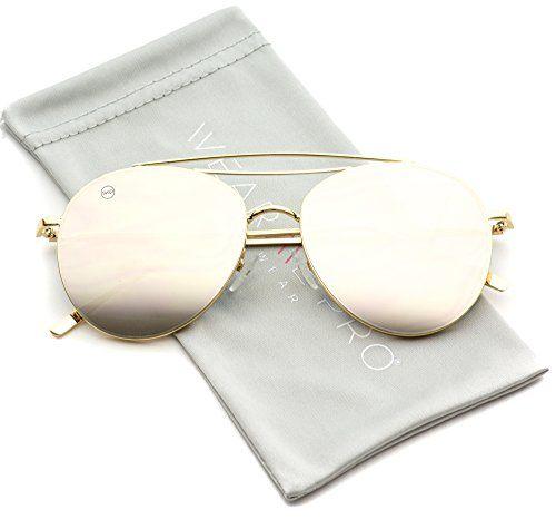 Modern Round Double Wire Aviator Sunglasses