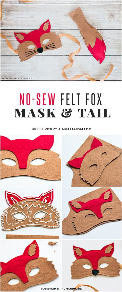 No Sew Felt Fox Mask & Tail