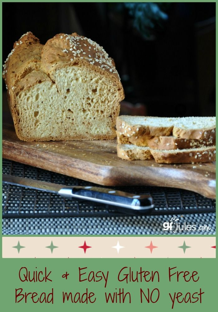 Quick And Easy Gluten Free Yeast Free Bread Dairy Free Too Can Be Vegan Gfjules Com Yeast Free Breads Gluten Free Yeast Free Bread No Yeast Bread