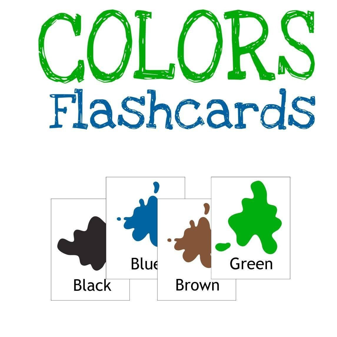 Colors Flashcards Card Games For Kids Preschool And
