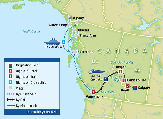 lake louise canada map Lake Louise Canada Map Canada S Rockies Alaska Cruise Map lake louise canada map