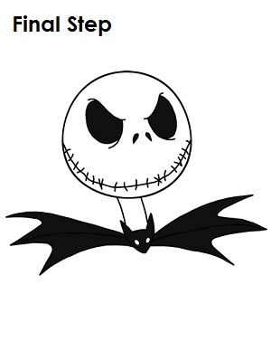 jack skellington face template - final step for a completely finished jack skellington