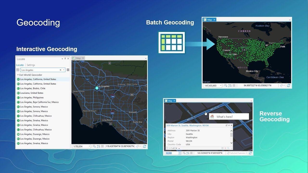 World Geocoding with ArcGIS World, Remote sensing, Surveying