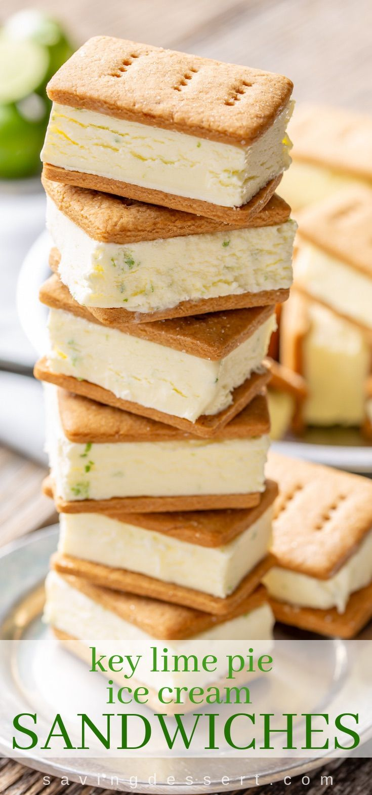 Key Lime Pie Gelato Sandwiches #icecreamsandwich