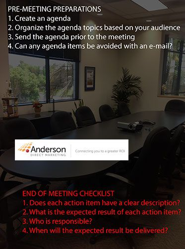 Project Management Meeting Planning Tips Project Management