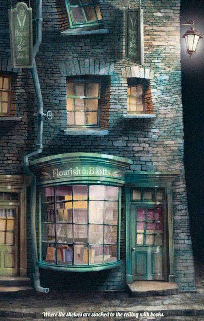 Flourish Blotts Fan Art Harry Potter Poster Harry Potter Magic Harry Potter Fan
