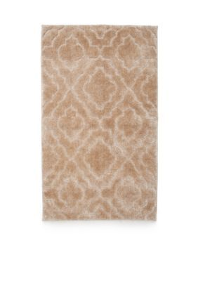 Home Accents Agate Tan Signature Fashion Tufted Cut And Loop Bath Rug 24 In